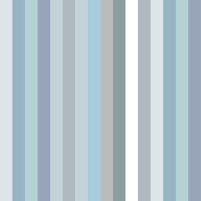blue-grey 1/2' wide stripes