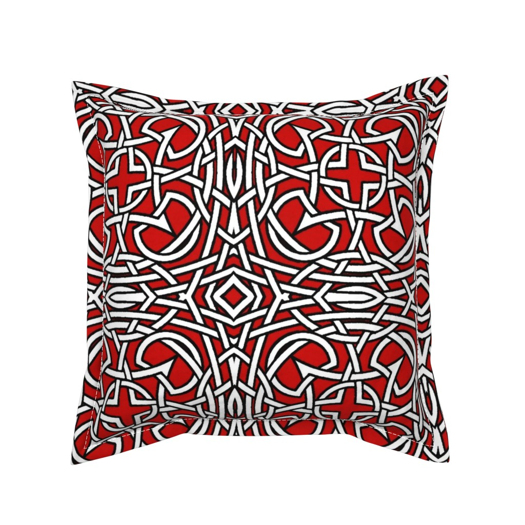 Serama Throw Pillow featuring Hot Knots by whimzwhirled