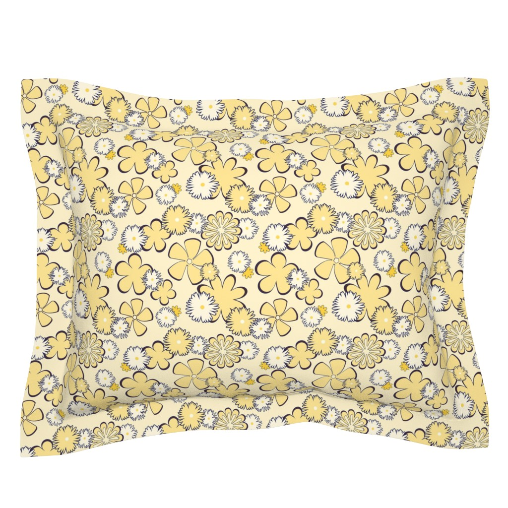 Sebright Pillow Sham featuring Sweet Dreams Are Mod Of This by sheila_marie_delgado