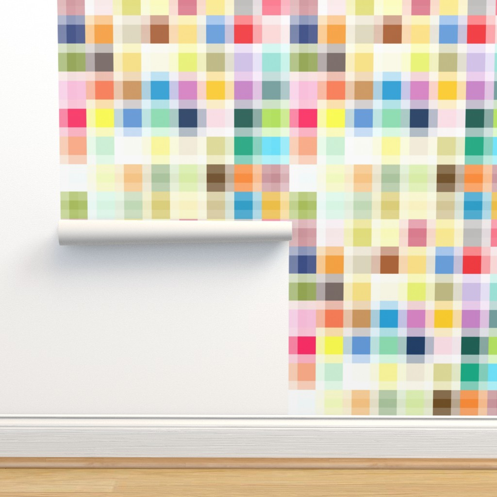 Isobar Durable Wallpaper featuring Color Block by kimjohnsonstudios