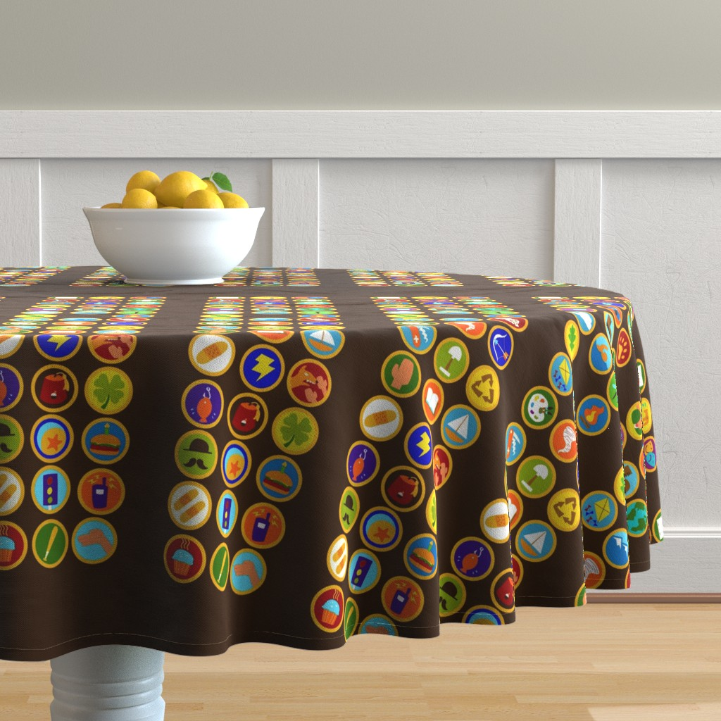 Malay Round Tablecloth featuring Explorer Sash Adult Size by just-joshin