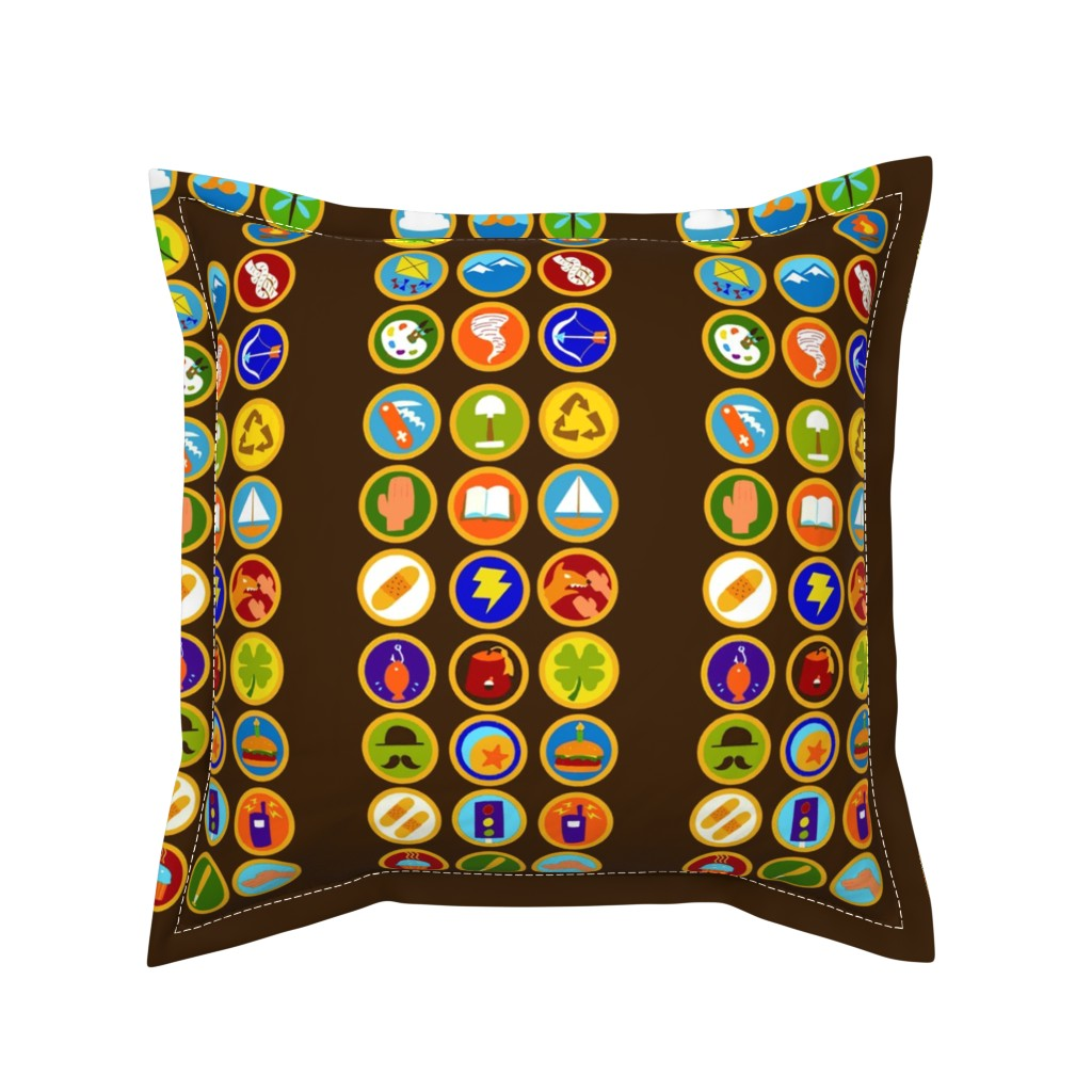 Serama Throw Pillow featuring Explorer Sash Adult Size by just-joshin