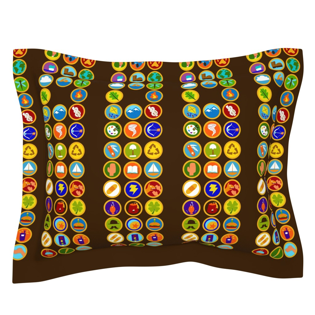 Sebright Pillow Sham featuring Explorer Sash Adult Size by just-joshin