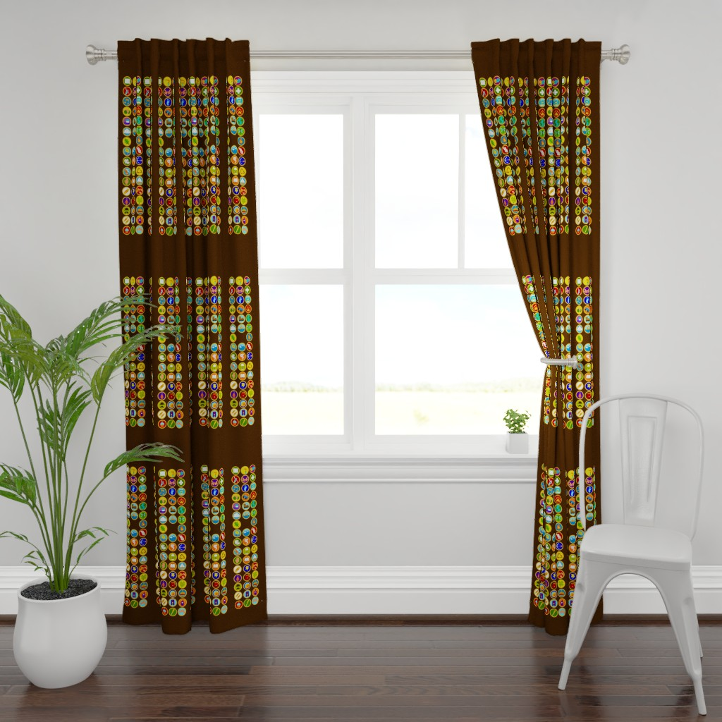 Plymouth Curtain Panel featuring Explorer Sash Adult Size by just-joshin