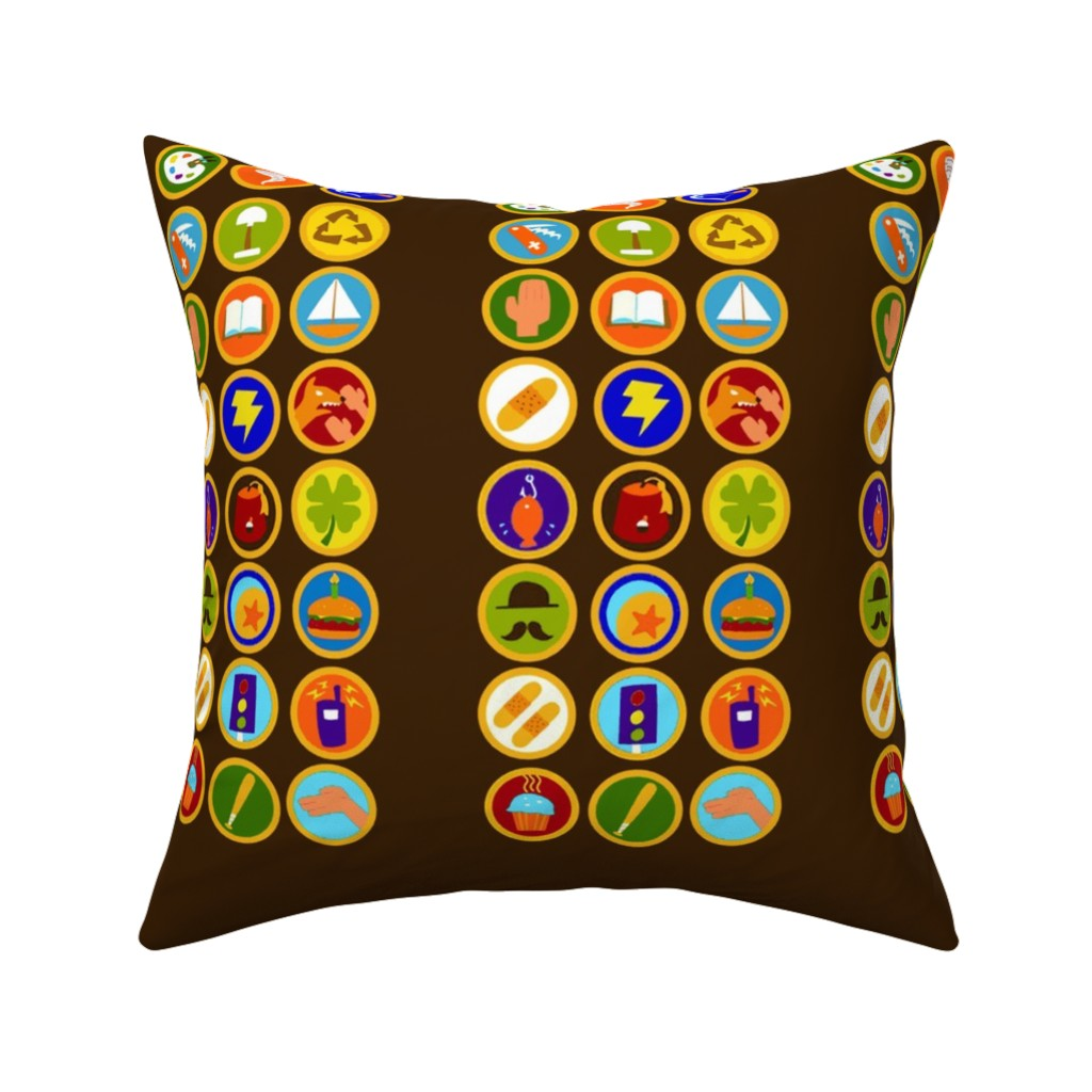 Catalan Throw Pillow featuring Explorer Sash Adult Size by just-joshin