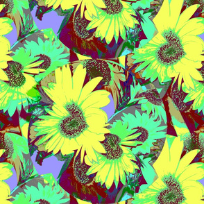Posterized Sunflowers