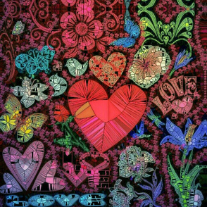 Stained Glass Window of Love