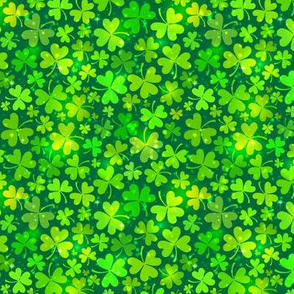 Green magic clovers pattern