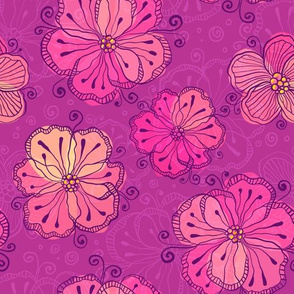 Vinous flowers pattern