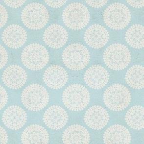 Lace Medallions - Blue