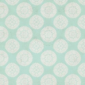 Lace Medallions - Green