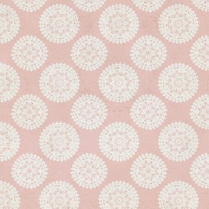 Lace Medallions - Pink