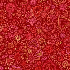 Ornate hearts pattern