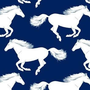 White Pony on Navy // standard