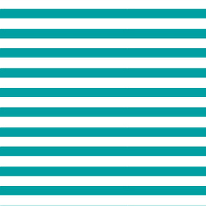 Well Teal Wide White Stripe