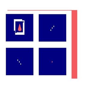 Modern Blue Square