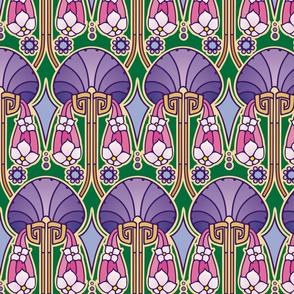 Art Deco abstract, purples
