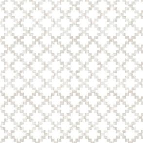 crosses on linen white