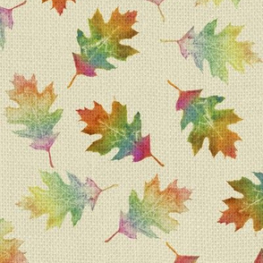 rainbow oak leaves (small leaves)