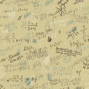 scribbled formulas