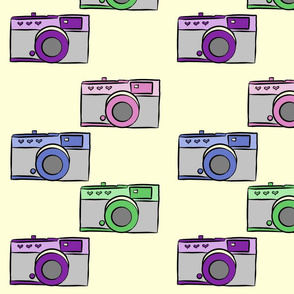 Colorful Vintage Cameras