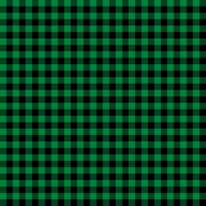 sable and deep green gingham