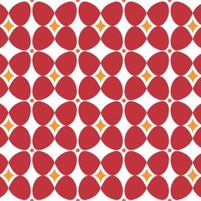 Mod Flora {White/Red}