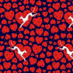 Hearts and Greyhounds -- Small ©2014 by Jane Walker