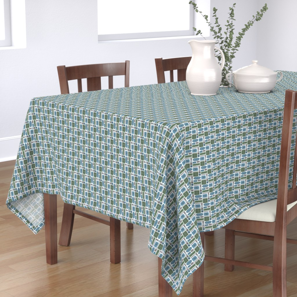 Bantam Rectangular Tablecloth featuring Temporama by knittingand