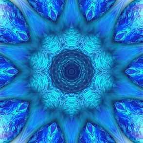 Blue Ocean Kaleidoscope Tile 290