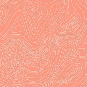 Ocean depth map coral - mini scale