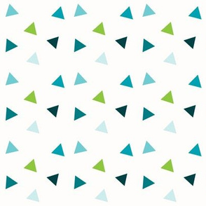 Triangle Confetti - Green, Aqua, Teal, Navy Triangles