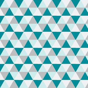Teal and Grey Triangle Mix - Hip Teal Triangle