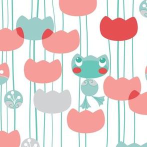 waterlily-frog-pattern