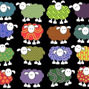 sheeps with eyes