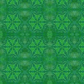 green knot mandala 4