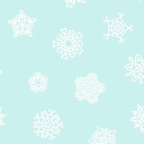 cut paper stars on ice blue, synergy0012