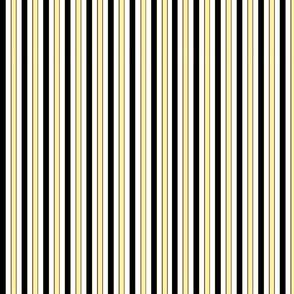 black,white,and yellow stripes