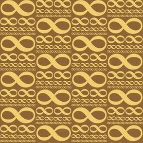 infinitiki - wheat gold on brown