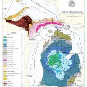 Bedrock of Michigan