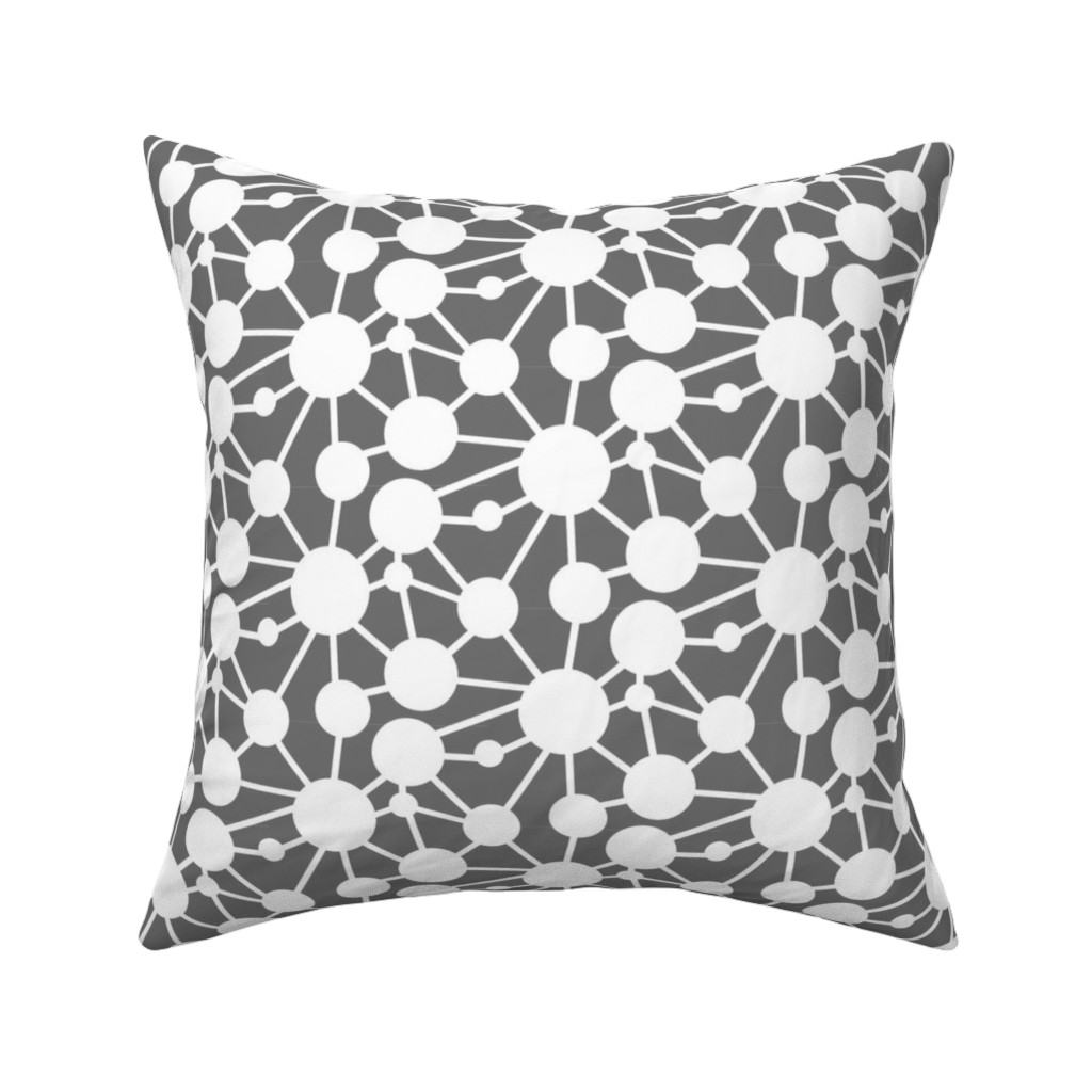 Catalan Throw Pillow featuring Connected Circles by creativeinchi