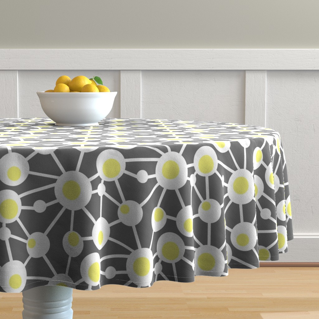 Malay Round Tablecloth featuring Hard Boiled Eggs by creativeinchi