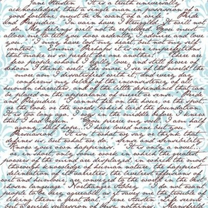 Jane Austen Damask ~ Blue and White and Chocolate