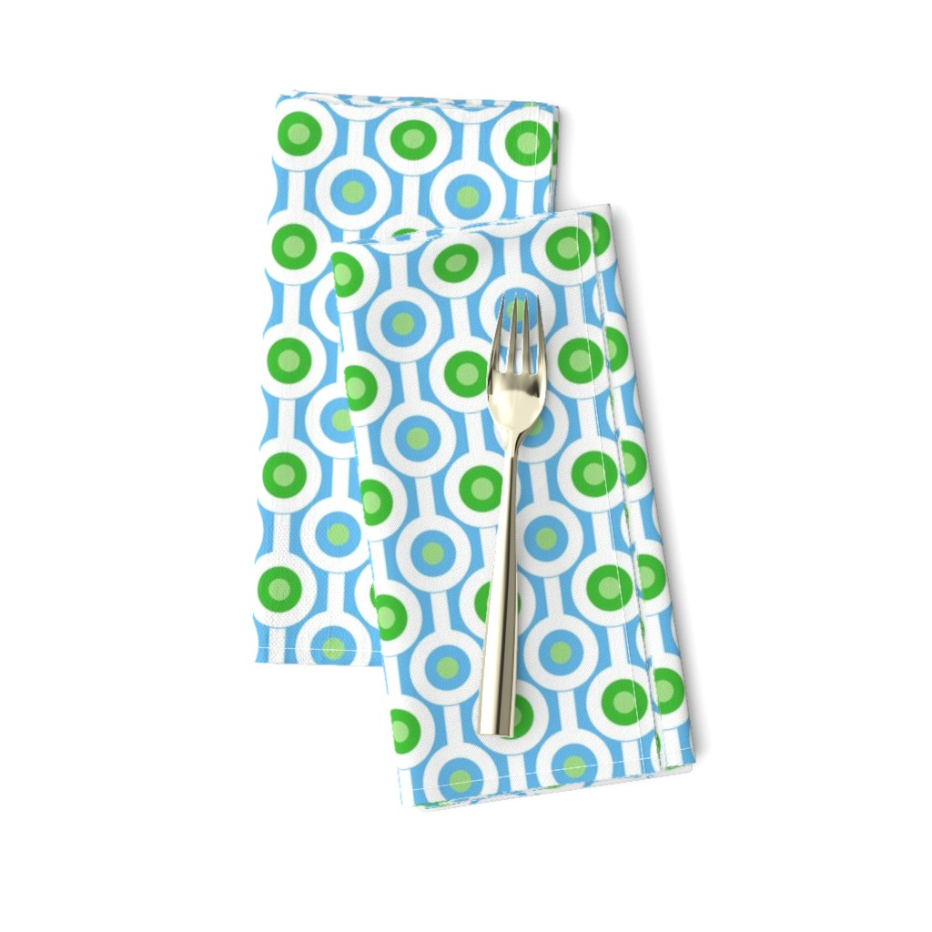 Amarela Dinner Napkins featuring Geometric Green Circles by creativeinchi