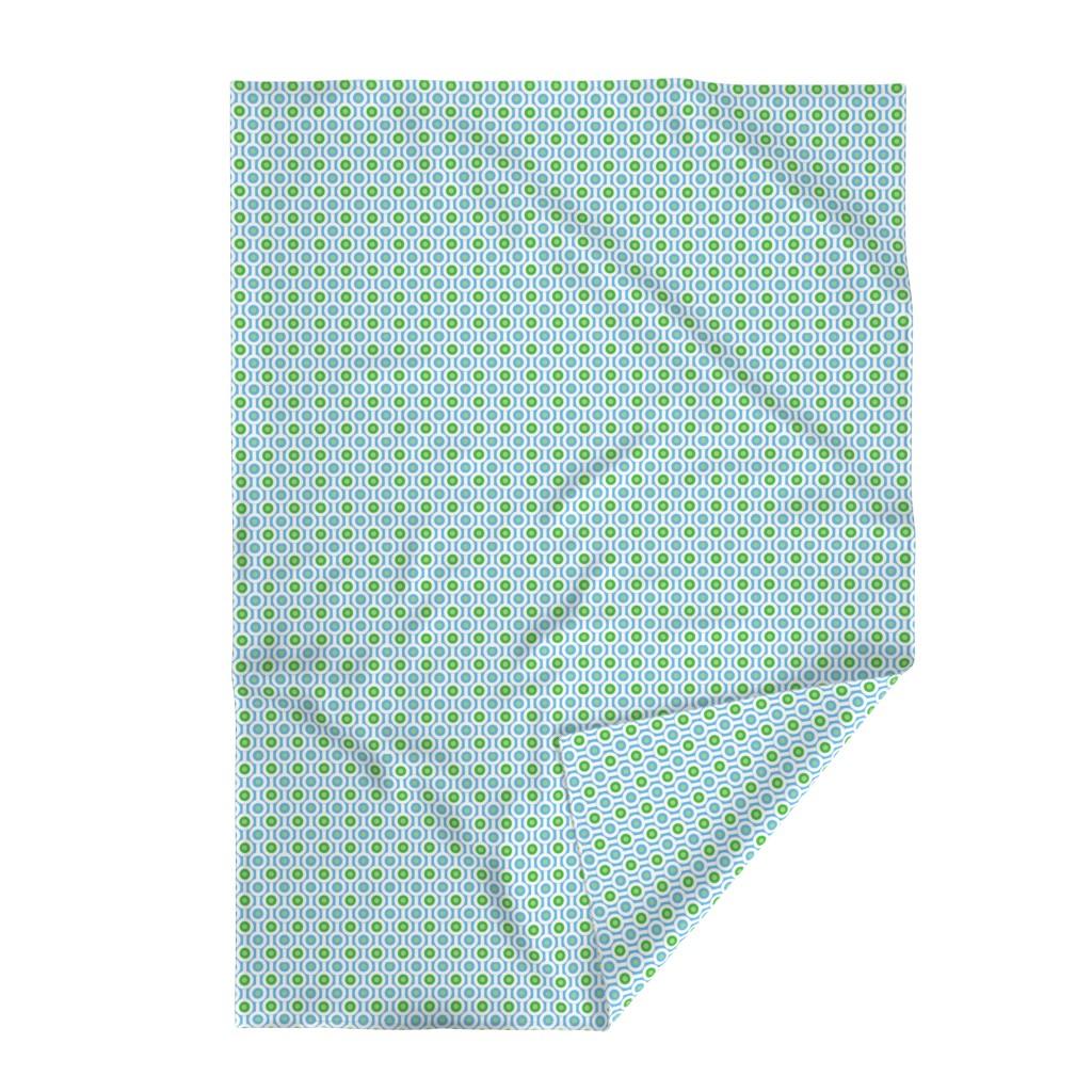 Lakenvelder Throw Blanket featuring Geometric Green Circles by creativeinchi