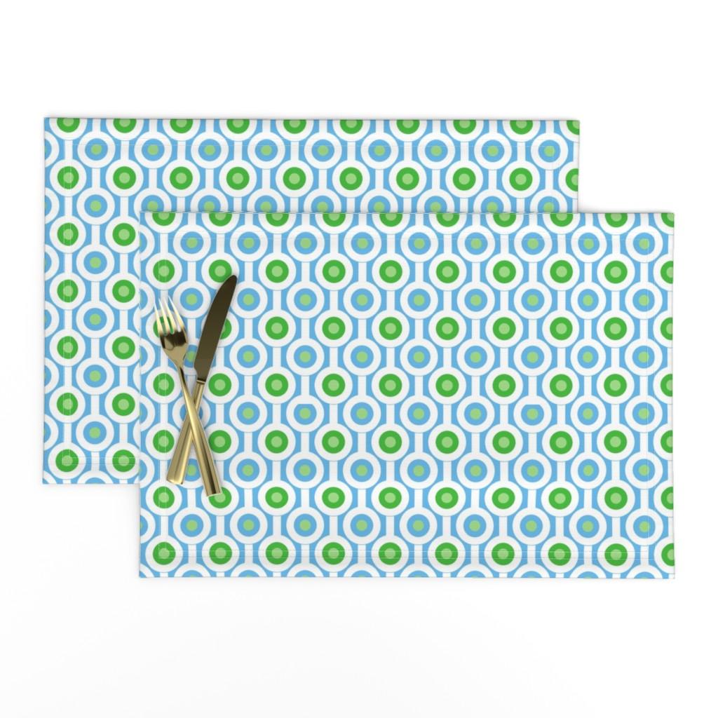 Lamona Cloth Placemats featuring Geometric Green Circles by creativeinchi
