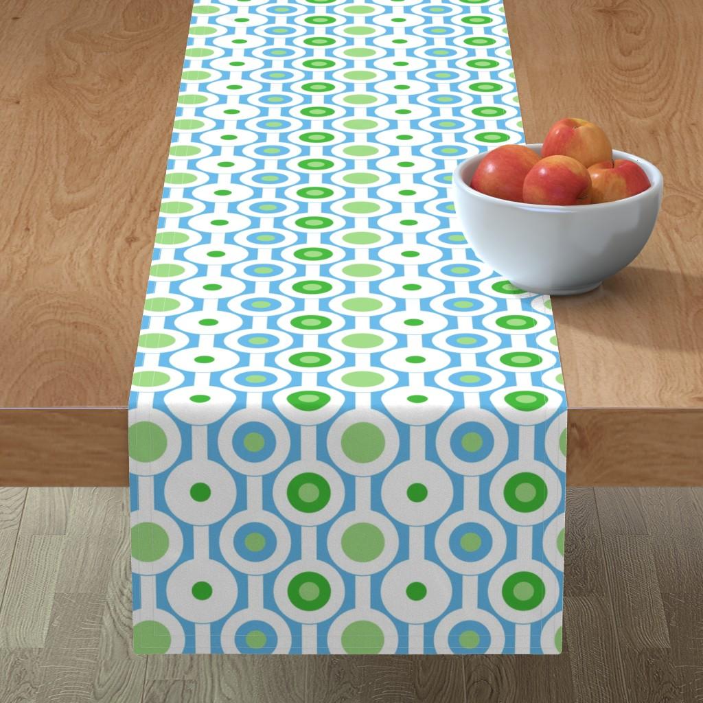 Minorca Table Runner featuring Modern Green Circles by creativeinchi
