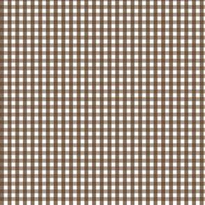 tiny gingham brown