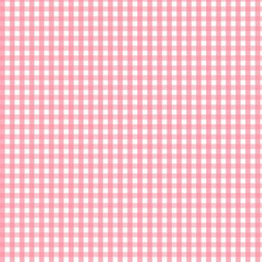 tiny gingham pretty pink