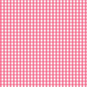 tiny gingham hot pink